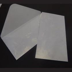 Obálky s ražbou, 22 x 11 cm - bílé, 10 ks