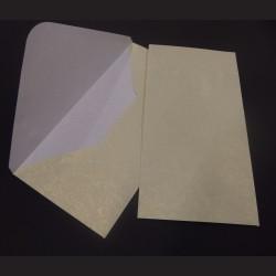 Obálky s ražbou, 22 x 11 cm - krémové, 10 ks