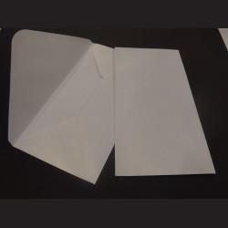Obálky s ražbou, 22 x 11 cm - bílé3, 10 ks