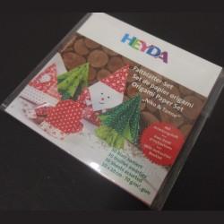 Sada origami papírů - Vánoce, 10 x 10 cm, 30 ks