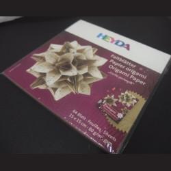 Sada origami papírů - bílá perlová, 15 x 15 cm, 64 ks