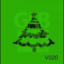 Plastová šablona Strom se sněhem V020