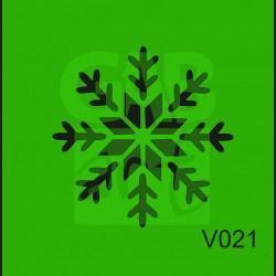 Plastová šablona Vločka V021
