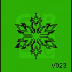 Plastová šablona Vločka V023