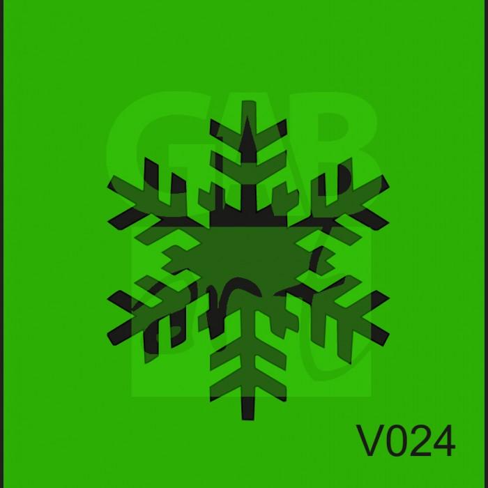 Plastová šablona Vločka V024