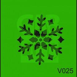 Plastová šablona Vločka V025