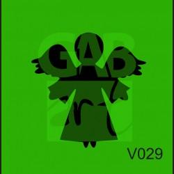 Plastová šablona Anděl s křídly V029
