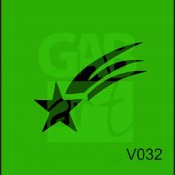 Plastová šablona Kometa V032
