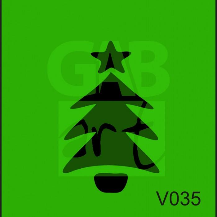 Plastová šablona Stromek V035