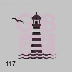 Šablona maják, 117