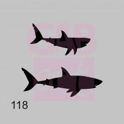 Šablona - žraloci, 118