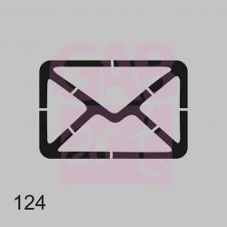 Šablona -  obálka obrys, 124
