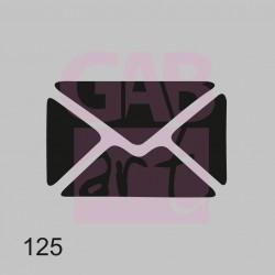 Šablona -  obálka plná, 125