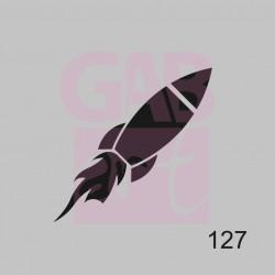 Šablona - raketa, 127