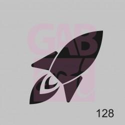 Šablona - raketa, 128