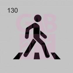 Plastová šablona - chodec, 130