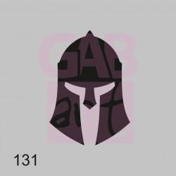 Plastová šablona - přilba, 131