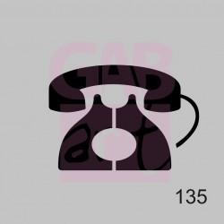 Plastová šablona - telefon, 135