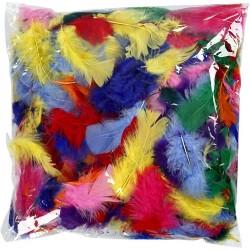 Peří - mix barev, 3g