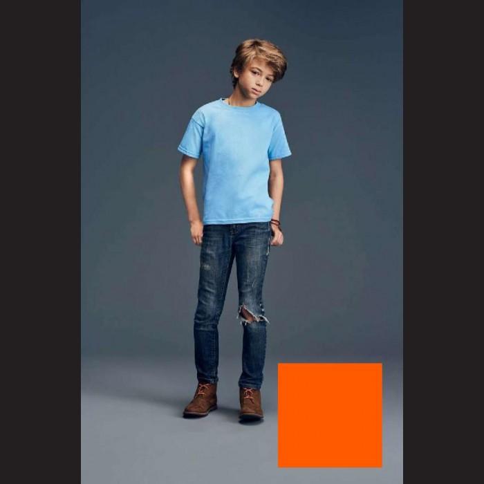 Tričko dětské oranžové, S - 7/8 let (vel. 128)