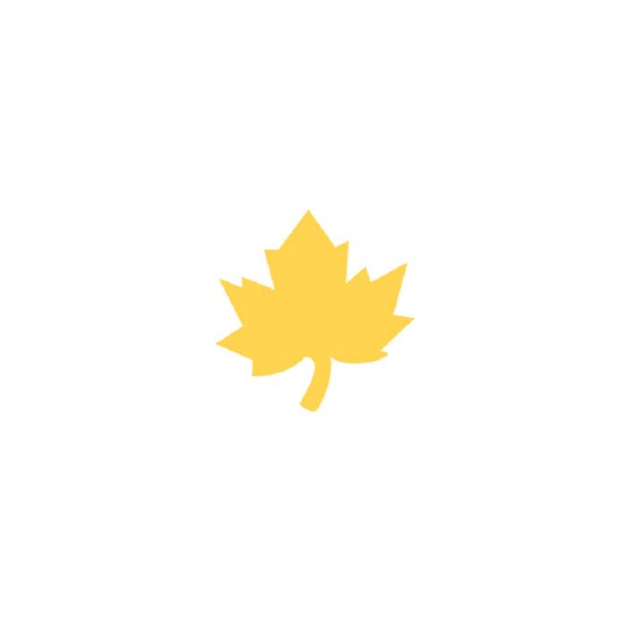Raznice - javorový list, 3,7 cm