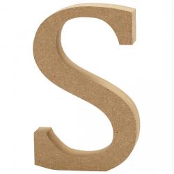 Dřevěné písmeno - S