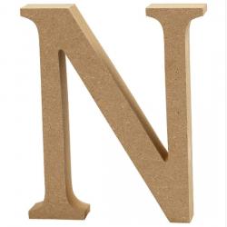 Dřevěné písmeno - N