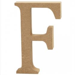 Dřevěné písmeno - F