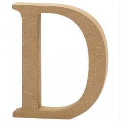 Dřevěné písmeno - D