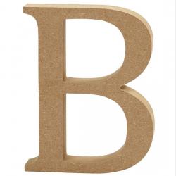Dřevěné písmeno - B
