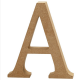 Dřevěné písmeno - A