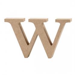 Dřevěné písmeno - w