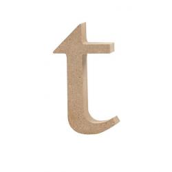 Dřevěné písmeno - t