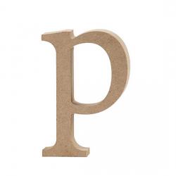 Dřevěné písmeno - p