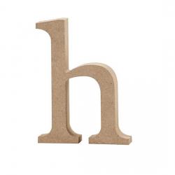 Dřevěné písmeno - h