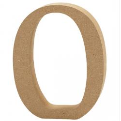 Dřevěná číslice 0