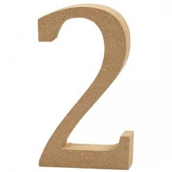 Dřevěná číslice 2