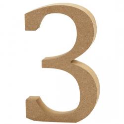 Dřevěná číslice 3