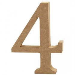 Dřevěná číslice 4