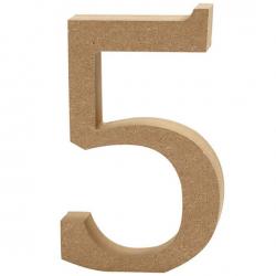 Dřevěná číslice 5