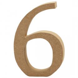Dřevěná číslice 6