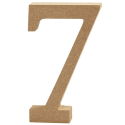 Dřevěná číslice 7