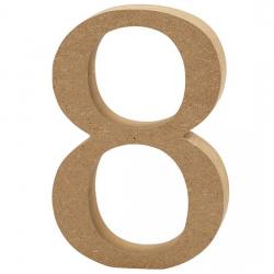 Dřevěná číslice 8