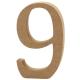 Dřevěná číslice 9