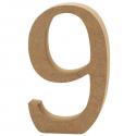 Dřevěná číslice - 9