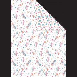 Papír A4, 300 g - jednorožec / drahokamy