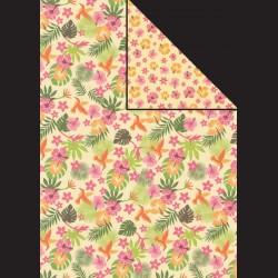 Papír A4, 300 g - kolibřík / tropické květy