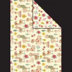 Papír A4, 300 g - lama / květy