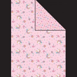 Papír A4, 300 g - jednorožec / srdíčka