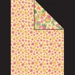 Papír A4, 300 g - tropické květy / kolibřík